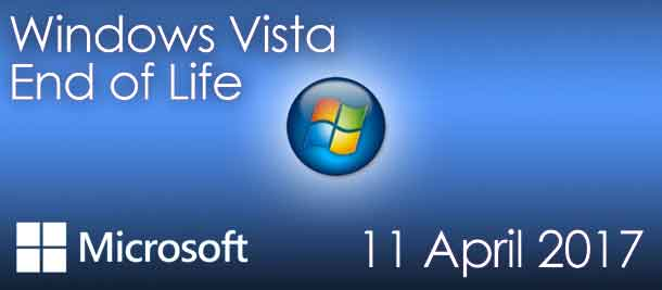 11th April 2017 signifies the end of support for Windows Vista   AME